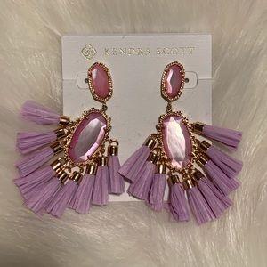 Kendra Scott Kristen raffia statement earrings